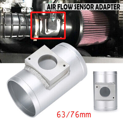 63mm Intake Air Flow MAF Mass Airflow Sensor Adapter Meter Universal Fir for Car