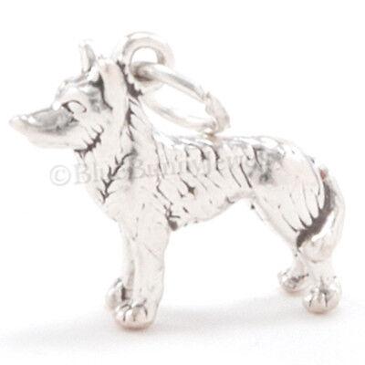3D HUSKY Puppy Dog Alaska Sled Charm Pendant Solid Sterling Silver Nice detail!