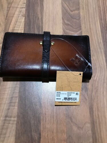 BNWT Patricia Nash Stained Nevola Tan Purse Leather Mobile Phone Holder rrp $69