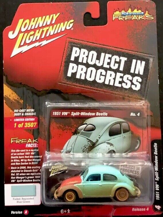 JOHNNY LIGHTNING 1951 VW SPLIT-WINDOW BEETLE PROJECT IN PROGRESS STREET FREAKS.