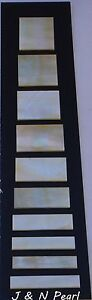 1.5mm Thick Gold MOP Block Inlay Set for Gibson Les Paul Custom,Selected Color