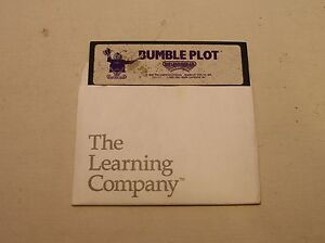 RARE-First-Bumble-Plot-Disk-by-Learning-Company-for-Apple-II-IIe-IIc-IIGS