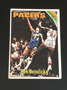 BOB-NETOLICKY-1975-76-TOPPS-SIGNED-AUTOGRAPHED-CARD-314-INDIANA-PACERS