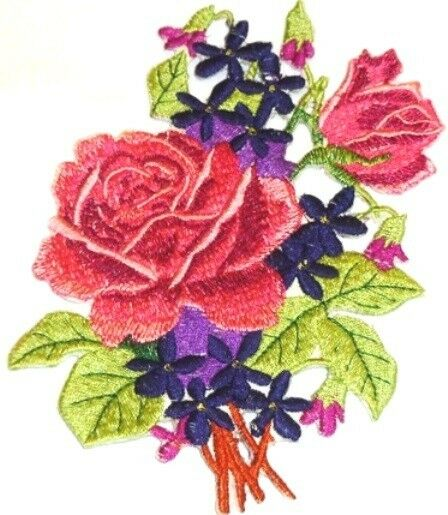 Rose Collection  Embroidered Iron On Patches