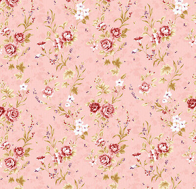 Dolls House Wallpaper 1/12th 1/24th scale Pink  Quality Paper #94