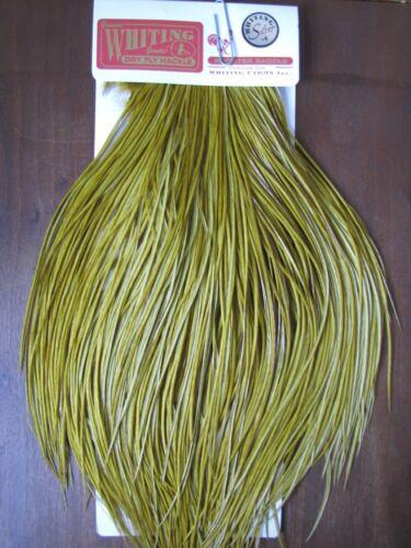 Angelsport-Köder, -Futtermittel & -Fliegen Fly Tying Whiting Silver Rooster Saddle White dyed Golden Olive #C Angelsport-Artikel