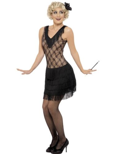Ladies Charleston Flapper Costume 20s 30s All That Jazz Fancy Dress Adult Outfit