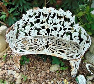 Awe Inspiring Details About Vintage Cast Iron Victorian Grape Leaf Garden Bench Onthecornerstone Fun Painted Chair Ideas Images Onthecornerstoneorg