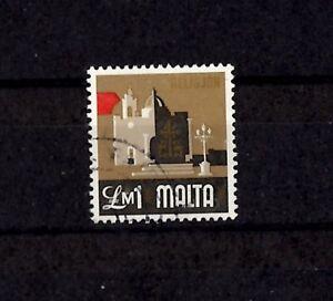 Malta-1M-1973-Defintive-Religion-SG499-Used