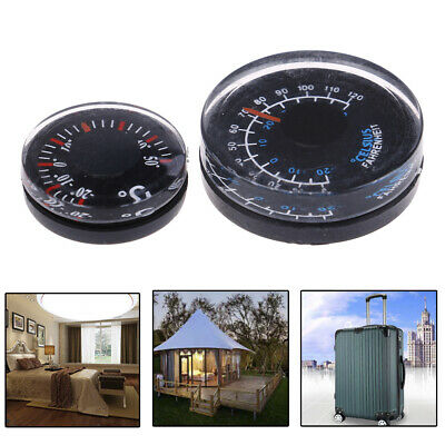 5pcs Dia 20mm Plastic Thermometer Circular Thermograph Fahrenheit Indoor OutdSP