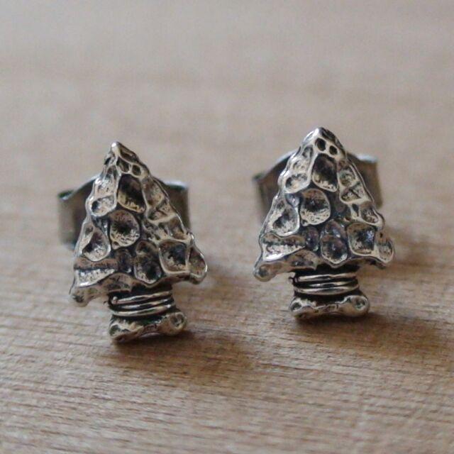 Arrowhead Earrings - 925 Sterling Silver - Arrows Tip Archery Spear Hunting NEW