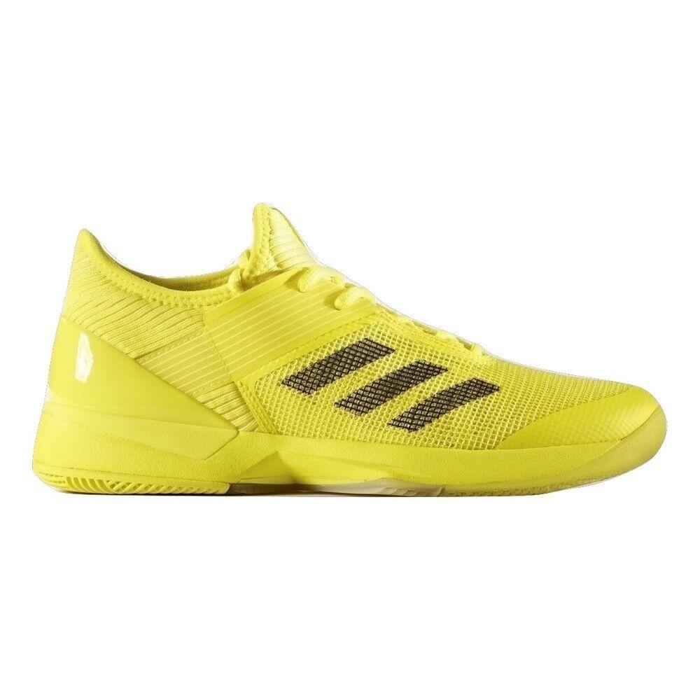 Adidas Womens Adizero Ubersonic 3 Tennis shoes - Yellow   White