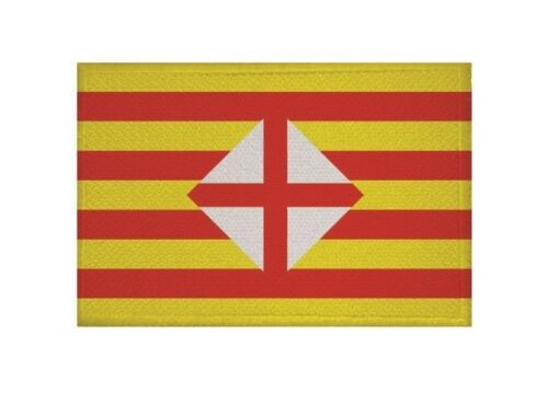 Ricamate Barcellona bandiera bandiera aufbügler Patch 9 x 6 cm