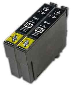 2 Black T1291 non-OEM Ink Cartridge For Epson Stylus SX235W SX420W SX425W
