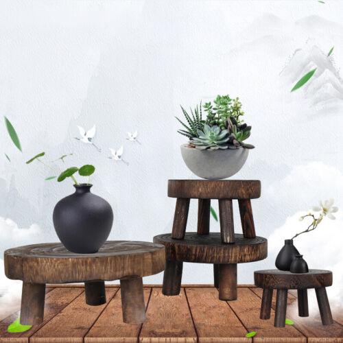 Wooden Plant Pot Holder Stand Flower Display Shelf Indoor Outdoor Garden Patio