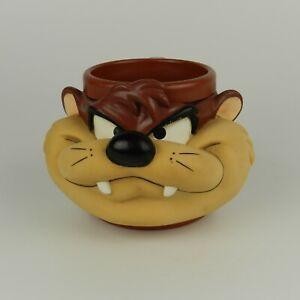 Vtg-1992-Taz-Tasmanian-Devil-Looney-Tunes-3D-Plastic-Coffee-Mug-Cup