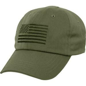 c4908ac6cfb Rothco Olive Drab Tactical Operator Cap W US Flag 4633 for sale ...