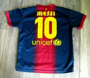 new product c75dc 6d589 Details about DRI-FIT FC Barcelona FCB QATAR MESSI SOCCER JERSEY YOUTH SMALL