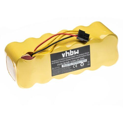 Batterie 3000mAh 14.4V Ni-Mh pour Ecovacs Deebot LP43SC2000P