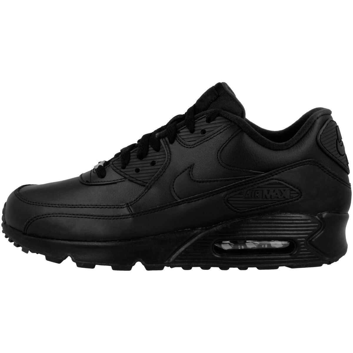 Nike Air Max 90 Leather Casual shoes Trainers Trainers Black 302519-001