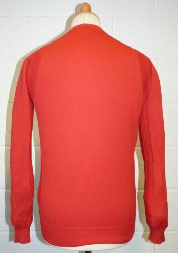 """rosso H163 Vendita Uomo Indie Maglia CERCHIO COMPLETO /""""valido/"""" Y-Neck maglione top"""