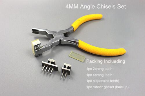 4MM Leathercraft Pricking Iron Diamond Stitching //Angle Chisels Leather Nippers