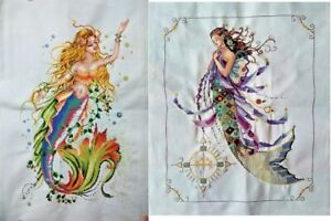 New-Completed-Cross-Stitch-Finished-Needlepoint-034-MERMAID-034-Home-Decor-Gifts