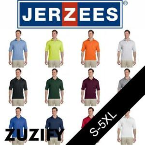 JERZEES-SpotShield-50-50-Jersey-Knit-Pocket-Polo-Shirt-436MPR