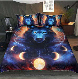 3D-Wolf-in-Cosmos-Planet-Bedding-Set-Quilt-Cover-Pillow-Cases-Duvet-Cover-3PCS