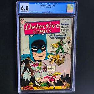 DETECTIVE-COMICS-215-DC-1955-CGC-6-0-1ST-BATMEN-of-ALL-NATIONS-RARE