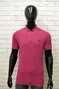 Polo-Uomo-FRED-PERRY-Taglia-Size-M-Maglia-Maglietta-Camicia-Shirt-Man-Cotone