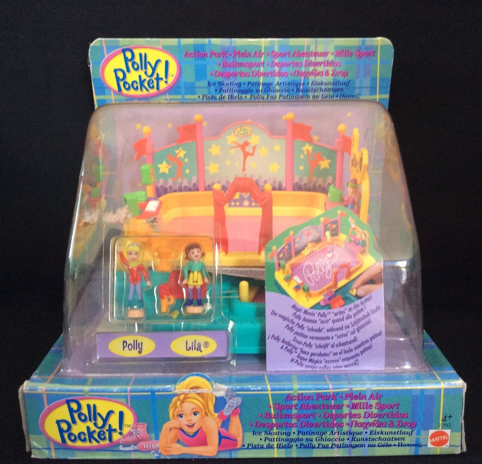 Polly Pocket Mini  1998 Ice Skating - Action Park Park Park Magnet OVP Neu New f61aa2