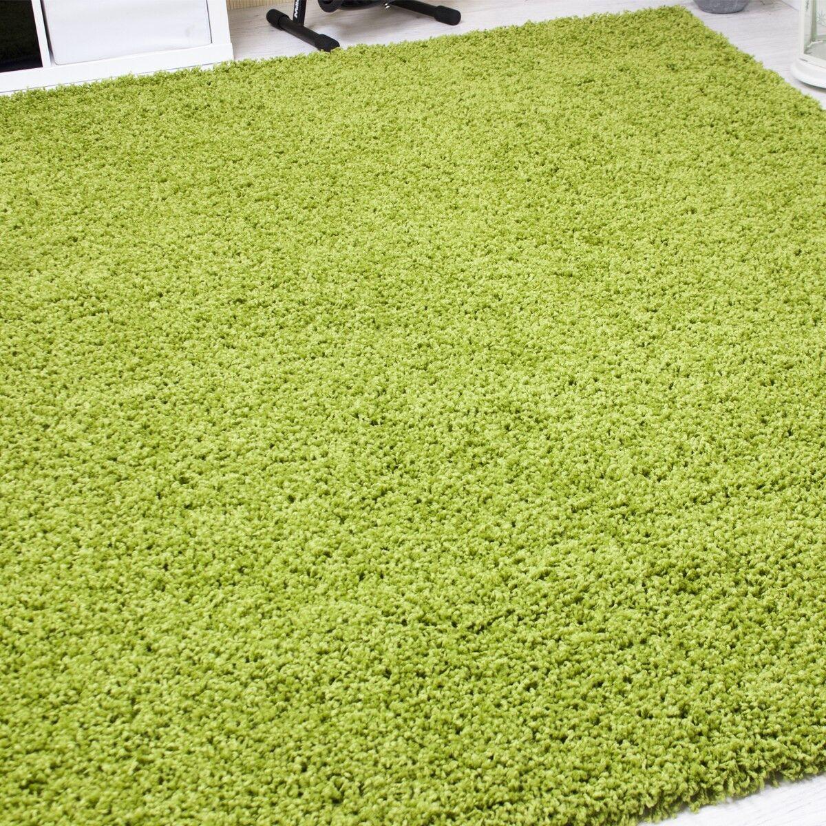 Alfombra tipo shaggy de pelo largo monoColor de Color Color Color verde resistente al uso 859ceb