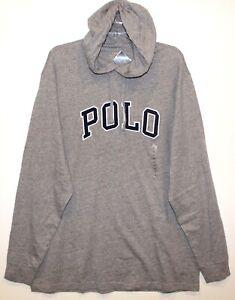 Polo-Ralph-Lauren-Big-amp-Tall-Mens-XLT-Gray-Letterman-Hoodie-L-S-T-Shirt-NWT-XLT