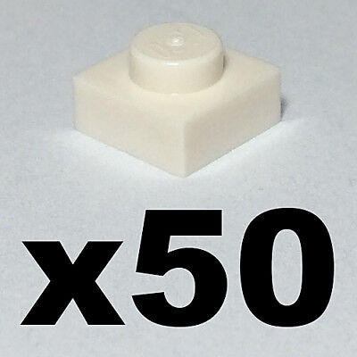1 x 2 PLATES White plate x 50-1x2 NEW LEGO