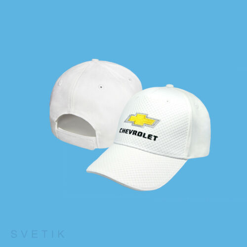 Chevrolet CARBON White Baseball Cap Embroidered Auto Logo Hat Gift Mens Womens