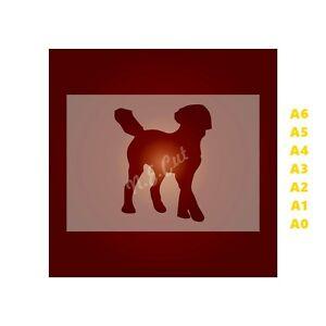 LABRADOODLE-Dog-Stencil-350-micron-Mylar-not-Hobby-stuff-DOGS111