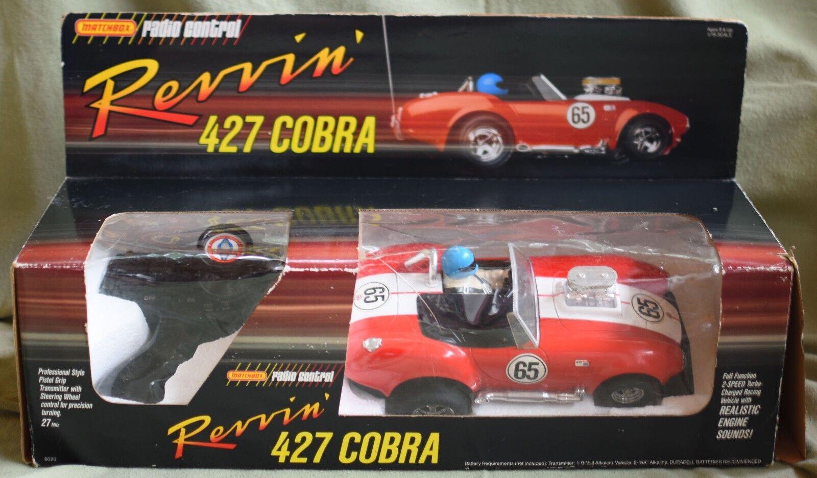 punto de venta Vintage 1987 Matchbox Radio Control 1 18 revvin 'Revin' 'Revin' 'Revin' cobra 427 Menta en Caja Con Caja  los nuevos estilos calientes