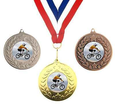 Humorous Bmx Cycling Metal Medal 50mm Trophy Award Free Ribbon With The Best Service Other Cycling