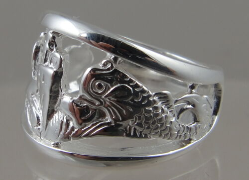 US Navy Licensed submarine dolphin ladys .925  sweetheart ring size 5.5