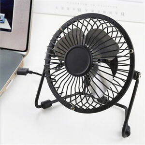 Image Is Loading Usb Fan Mini Portable Desktop Cooling Desk Quiet