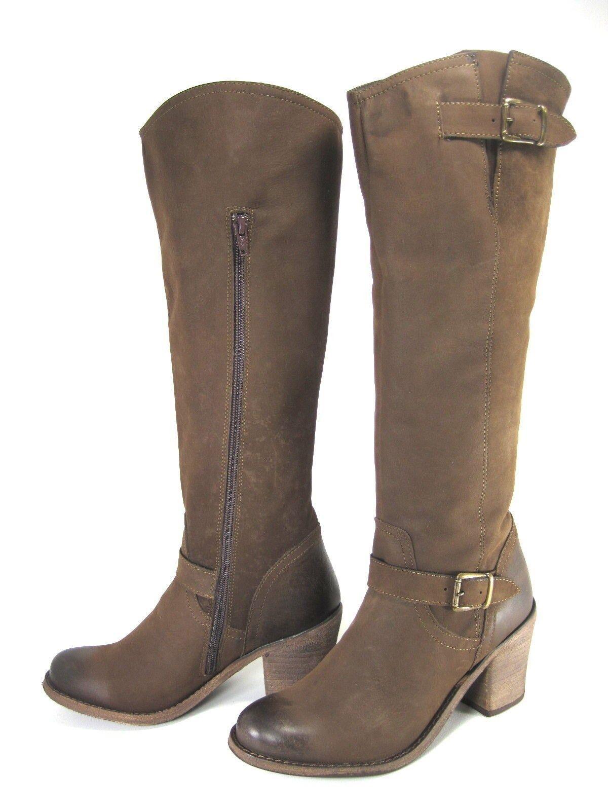 New Steve Madden tall braun harness buckle Stiefel BOLERO 7.5  180+ 3  heel LAST