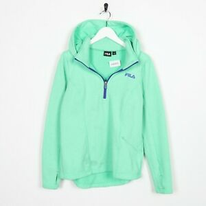 Vintage-Women-039-s-FILA-Zip-Up-Hoodie-Sweatshirt-Green-Small-S-Grade-B