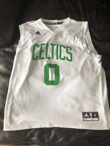 reputable site dbeda 517c6 Details about Jayson Tatum Adidas Home Jersey