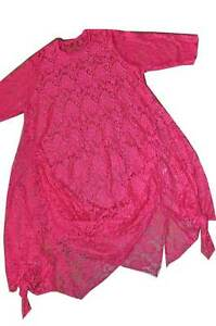 48 Tunique Superposé Designer Top Rose 50 robe pan look 46 Exceptionnelle qBwaz