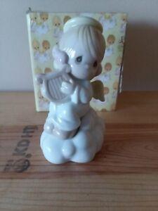 Precious-Moments-Figurine-869759-P-Salt-Pepper-Shaker-Girl-Angel-On-Cloud-W-Box