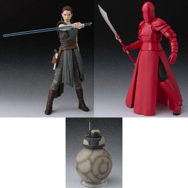 S.h. Figuarts Star Wars Last Jedi REY ELITE PRAETORIAN GUARD BB-4 Droid 3pcs Set