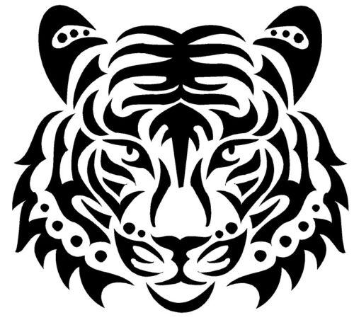Tiger Black Design Iron on Heat Transfer Vinyl ready to put on T-Shirt