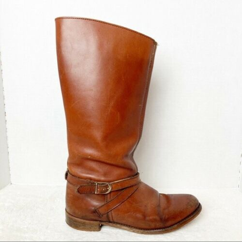 Vintage 70s Leather Riding Boots Dexter Brown 8