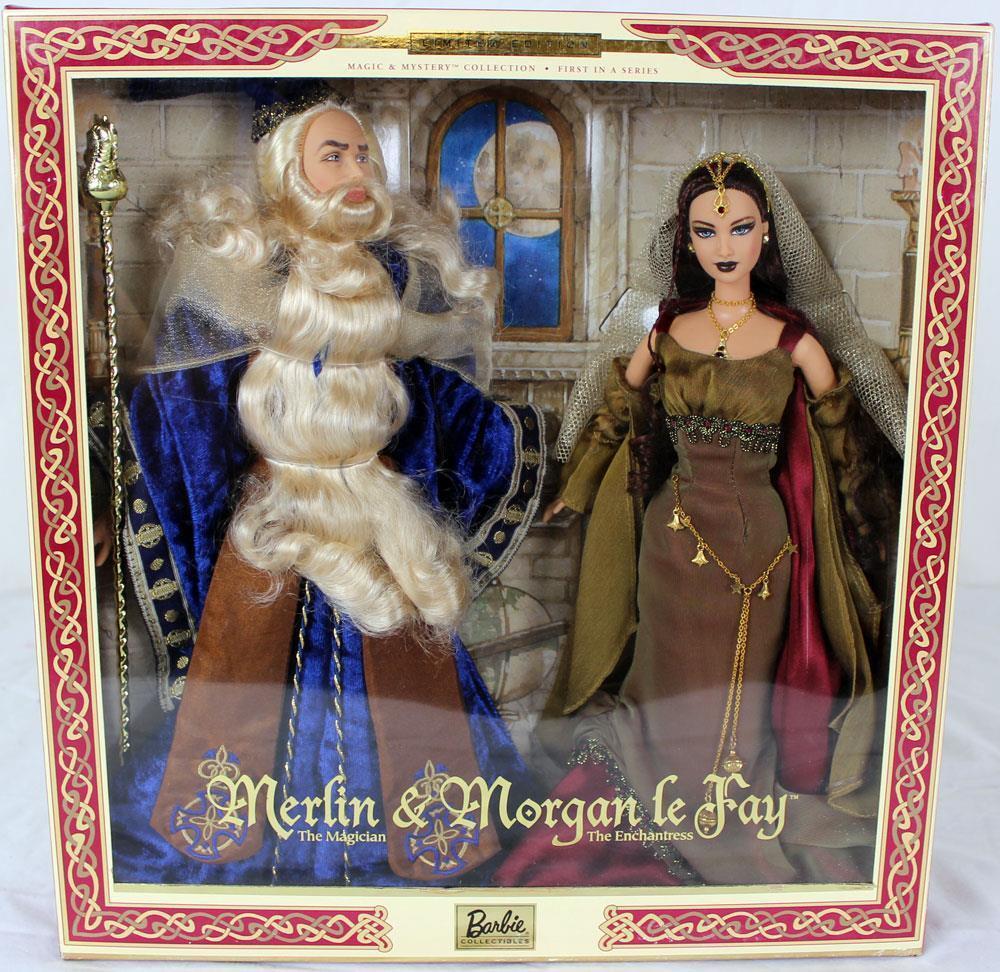 Coleccionables Barbie Barbie y Ken como Merlin & Morgan le Fay Magic & Misterio